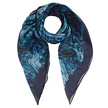 Buy Jigsaw Agate Print Scarf, Blue Online at johnlewis.com