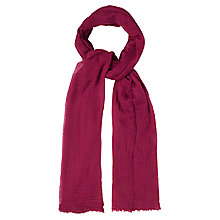 Buy White Stuff Dreaming Away Scarf, Petal Pink Online at johnlewis.com