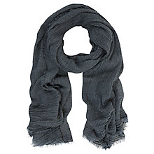 Buy Mint Velvet Crinkle Scarf, Navy Online at johnlewis.com