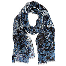 Buy Mint Velvet Jane Print Scarf, Blue Online at johnlewis.com