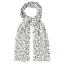 Buy White Stuff Hand Drawn Heart Scarf, Off White Online at johnlewis.com