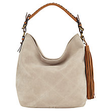 Buy Jigsaw Diamond Quilted Suede Hobo Bag Online at johnlewis.com