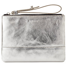 Buy Jigsaw Mini Clutch Bag, Silver Online at johnlewis.com