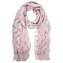 Buy Mint Velvet Shell Penny Print Scarf, Pale Pink Online at johnlewis.com