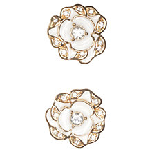 Buy kate spade new york Beach Bouquet Gold Plated Earrings, White Online at johnlewis.com