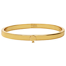 Buy kate spade new york Thin Hinge Bangle, Gold Online at johnlewis.com