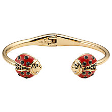 Buy kate spade new york Thin Cuff Ladybug Bracelet, Red/Black Online at johnlewis.com
