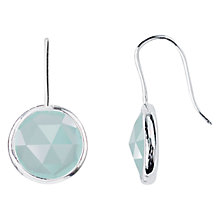 Buy Siren Aqua Chalcedony Drop Earrings, Aqua/Silver Online at johnlewis.com