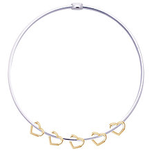 Buy Joma Phoebe Sterling Silver Bangle, Silver/Gold Online at johnlewis.com