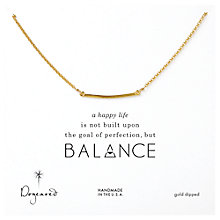 Buy Dogeared Balance Bar Gold Plated Necklace Online at johnlewis.com
