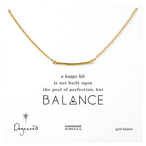 buy dogeared balance bar gold plated necklace at