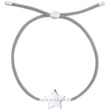 Buy Joma Life's A Charm Sterling Silver Friendship Bracelet, Silver Star Online at johnlewis.com
