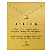 Buy Dogeared Good Luck Elephant Gold Plated Necklace Online at johnlewis.com