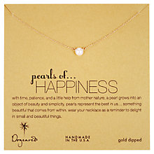 Buy Dogeared Pearls Of Happiness Gold Plated Necklace Online at johnlewis.com