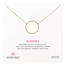 Buy Dogeared Gold Plated Medium Sparkle Karma Necklace Online at johnlewis.com