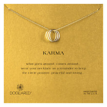 Buy Dogeared Gold Plated Triple Karma Ring Necklace, Gold Online at johnlewis.com