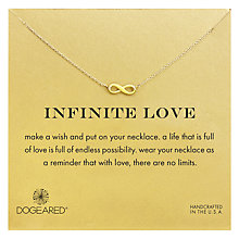 Buy Dogeared Gold Plated Infinite Love Necklace, Gold Online at johnlewis.com
