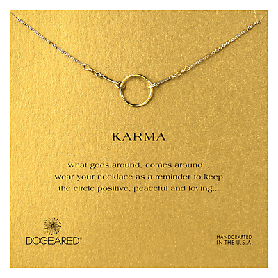 Dogeared Gold Plated Original Karma Necklace, Gold