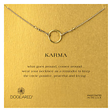 Buy Dogeared Gold Plated Small Original Karma Necklace, Gold Online at johnlewis.com