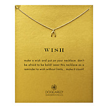 Buy Dogeared Teeny Wishbone Gold Plated Necklace Online at johnlewis.com