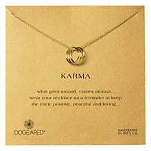Buy Dogeared Triple Karma Ring Gold Plated Necklace Online at johnlewis.com