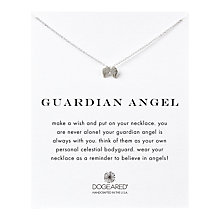 Buy Dogeared Sterling Silver Guardian Angel Wings Reminder Necklace, Silver Online at johnlewis.com