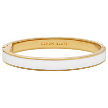 Buy kate spade new york Clean Slate Hinged Bangle, White Online at johnlewis.com