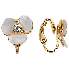 Buy kate spade new york Disco Pansy Leverback Stud Earrings, Cream/Gold Online at johnlewis.com