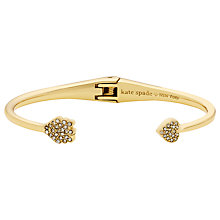 Buy kate spade new york Gold Plated Crystal Heart And Arrow Cuff, Gold Online at johnlewis.com