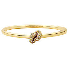 Buy kate spade new york Sailor's Knot Pave Hinged Bangle Online at johnlewis.com