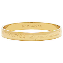 Buy kate spade new york Mom Said So Engraved Bangle Online at johnlewis.com