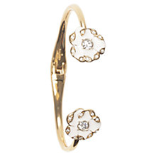 Buy kate spade new york Beach Bouquet Thin Cuff Gold Plated Bangle, White/Gold Online at johnlewis.com