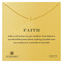 Buy Dogeared Gold Plated Faith Sideways Cross Necklace Online at johnlewis.com