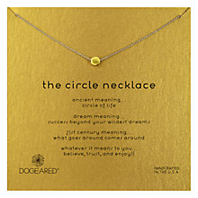 Buy Dogeared The Circle Gold Plated Necklace Online at johnlewis.com