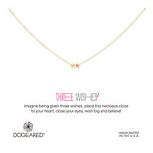 Buy Dogeared Three Wishes Bead Necklace, Gold/Silver/Rose Gold Online at johnlewis.com