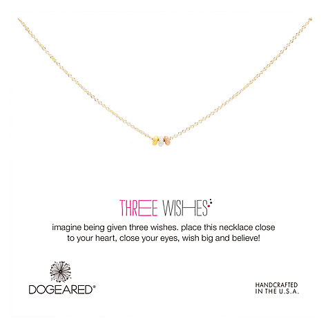 buy dogeared mixed metal three wishes bead necklace