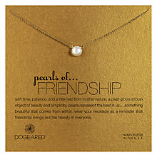 Buy Dogeared Pearls Of Friendship Gold Plated Necklace Online at johnlewis.com