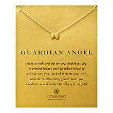 Buy Dogeared Gold Plated Guardian Angel Wings Reminder Necklace, Gold Online at johnlewis.com