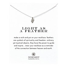 Buy Dogeared Sterling Silver Light as a Feather Reminder Necklace, Silver Online at johnlewis.com