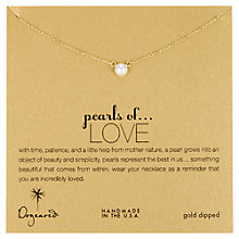 Buy Dogeared Perals Of Love Gold Plated Necklace Online at johnlewis.com