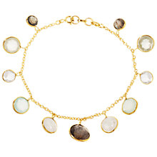 Buy Pomegranate Vermeil Gemstone Chain Bracelet, Gold/Multi Online at johnlewis.com