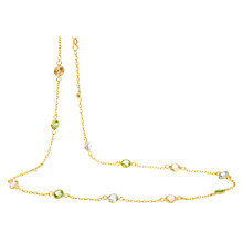 Buy Pomegranate Shorter Length Station Sterling Silver Necklace, Multi Online at johnlewis.com