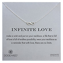 Buy Dogeared Sterling Silver Infinite Love Necklace, Silver Online at johnlewis.com