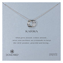 Buy Dogeared Sterling Silver Triple Karma Ring Necklace, Silver Online at johnlewis.com