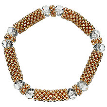 Buy John Lewis Effervescent Crystal Bracelet, Gold Online at johnlewis.com