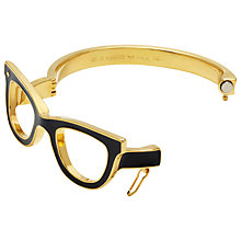 Buy kate spade new york Goreski Glasses Gold Plated Bangle, Black/Gold Online at johnlewis.com