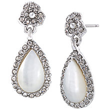Buy Carolee Double Drop Mother of Pearl Earrings, Silver Online at johnlewis.com