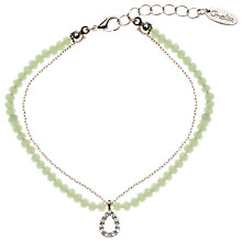 Buy Orelia Bead Chain Teardrop Bracelet Online at johnlewis.com