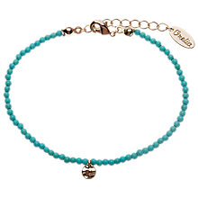 Buy Orelia Mini Bead & Coin Bracelet, Turquoise Online at johnlewis.com