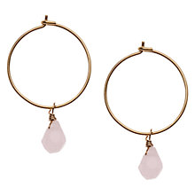 Buy Orelia Mini Hoop Stone Drop Hoop Earrings Online at johnlewis.com